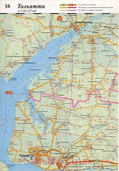 Тольятти на карте России.