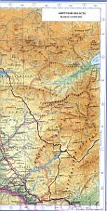 Сибирь подробные карты областей