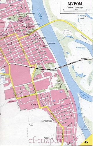 План карта города Мурома с