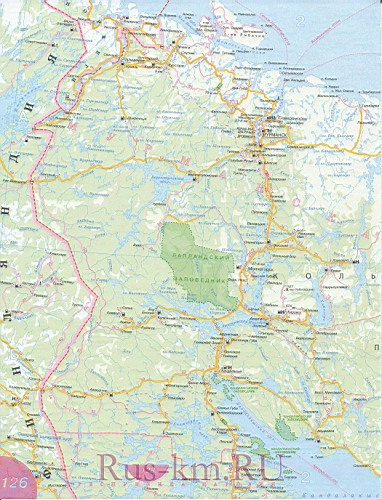Мурманская область карта дорог