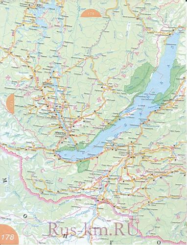 Иркутская область карта дорог