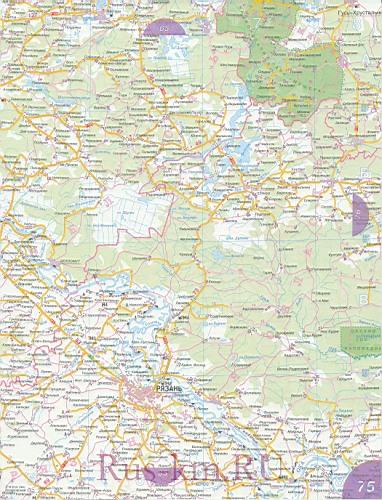 Рязанская область карта дорог