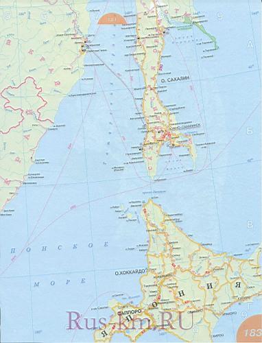 Приморский край карта дорог 2012
