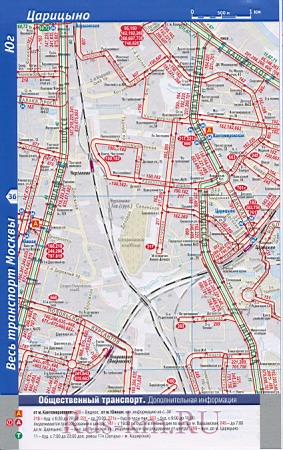 Подробная карта Москвы