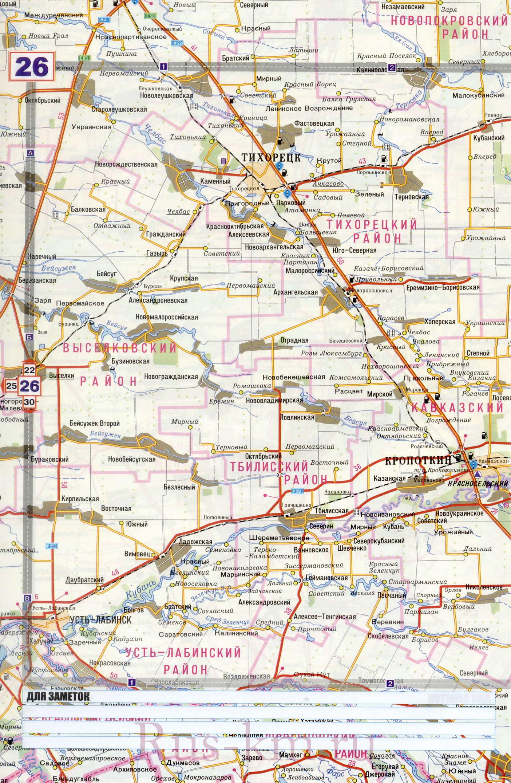 Тихорецк карта дорог подробная карта