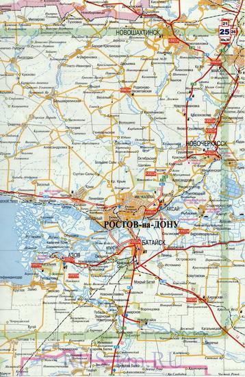 Карта Шахт подробная: районы, названия улиц, номера домов