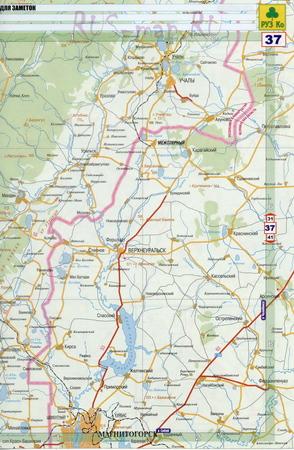 Белорецк карта автодорог.